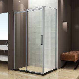 10MM Thickness Tempered Glass Frameless 2 Sided 3 Panel Sliding Shower Enclosure Shower Door Designs