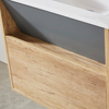 New Design Painting And Melamine Modern Bathroom Cabinet with Basin
