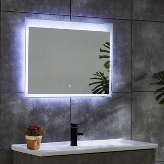 CE IP44 New Style 4 Sides Frame Illuminated LED Bathroom Mirror