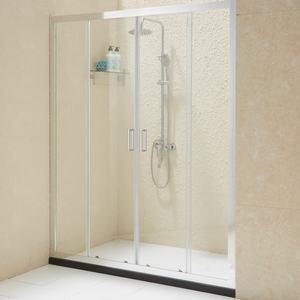 Glass Shower Door with 6MM 8MM Tempered Nano Glass Anti Exploding Film Protected