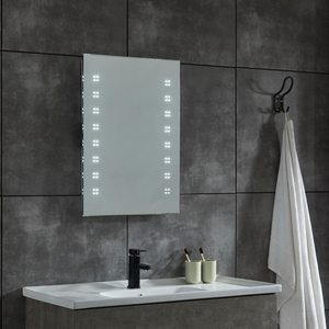 CE IP44 New Style 2 Sides Frame Illuminated LED Bathroom Mirror with Shaver Socket