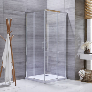 Square Shape Slim Economic Tempered Glass Shower Door Enclosure Shower Room with 2 Sliding Door