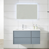 New Design Grey Painting Modern Bathroom Cabinet with Basin Vanity Set