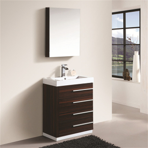 Entop Mirrored Bathroom Cabinet Sink with Drawers Easy Installation Vanity Cabinet Set