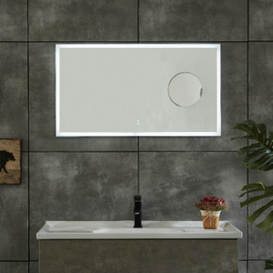 Big Horizonal Copper-free Bathroom LED Mirror With Magnifying