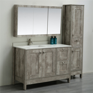 Entop European Style Floor Standing Basin Cabinet with Mirror