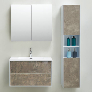 2020 New Wall Mounted Bathroom Cabinet Grey Color
