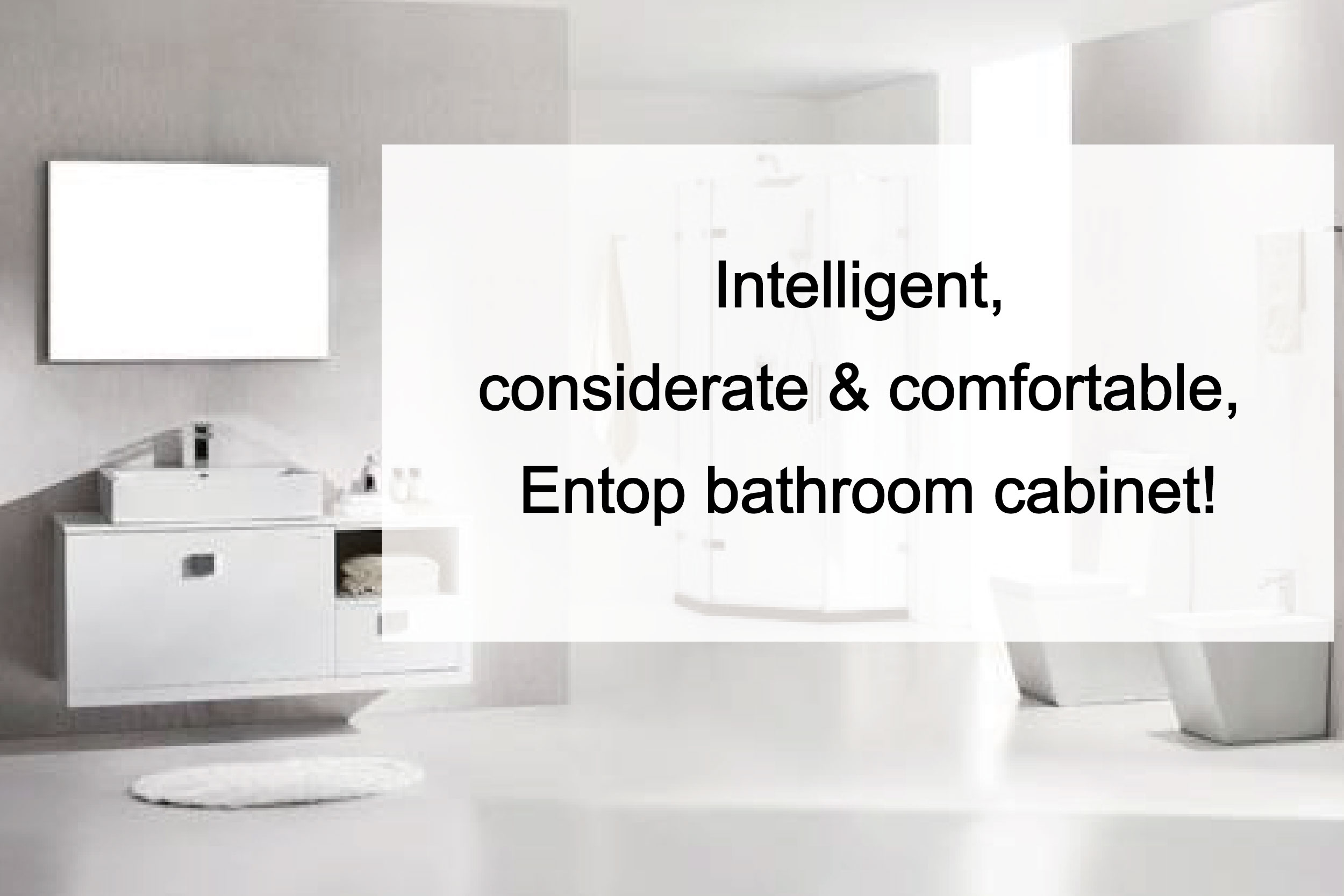 Intelligent, considerate and comfortable, Entop bathroom cabinet!
