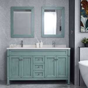 Peacock Blue Combine Bathroom Cabinets Vanity